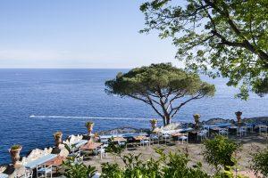 The terrace at Hotel Il San Pietro di Positano,Relais & Chateaux on the Amalfi coast