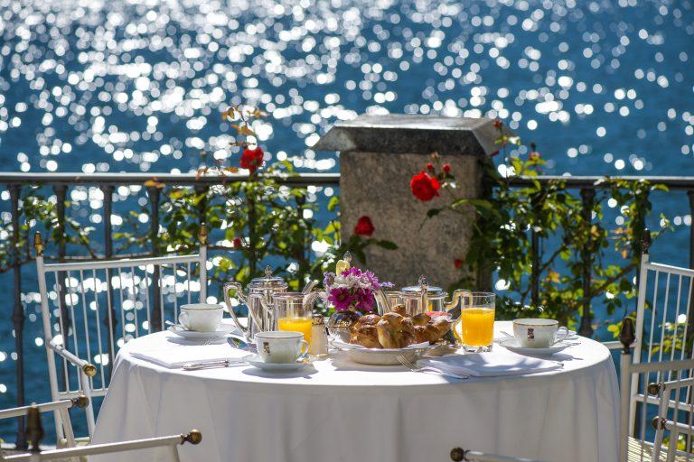 Breakfast on the lake terrace