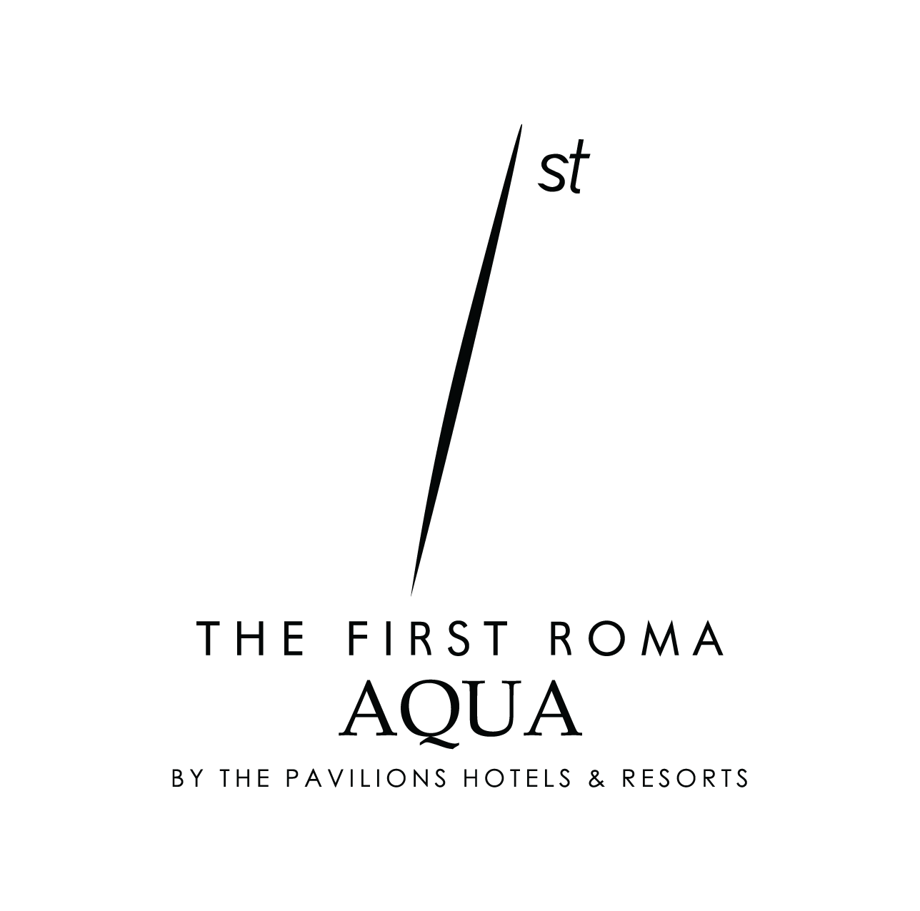 Logo The First Roma Aqua_black