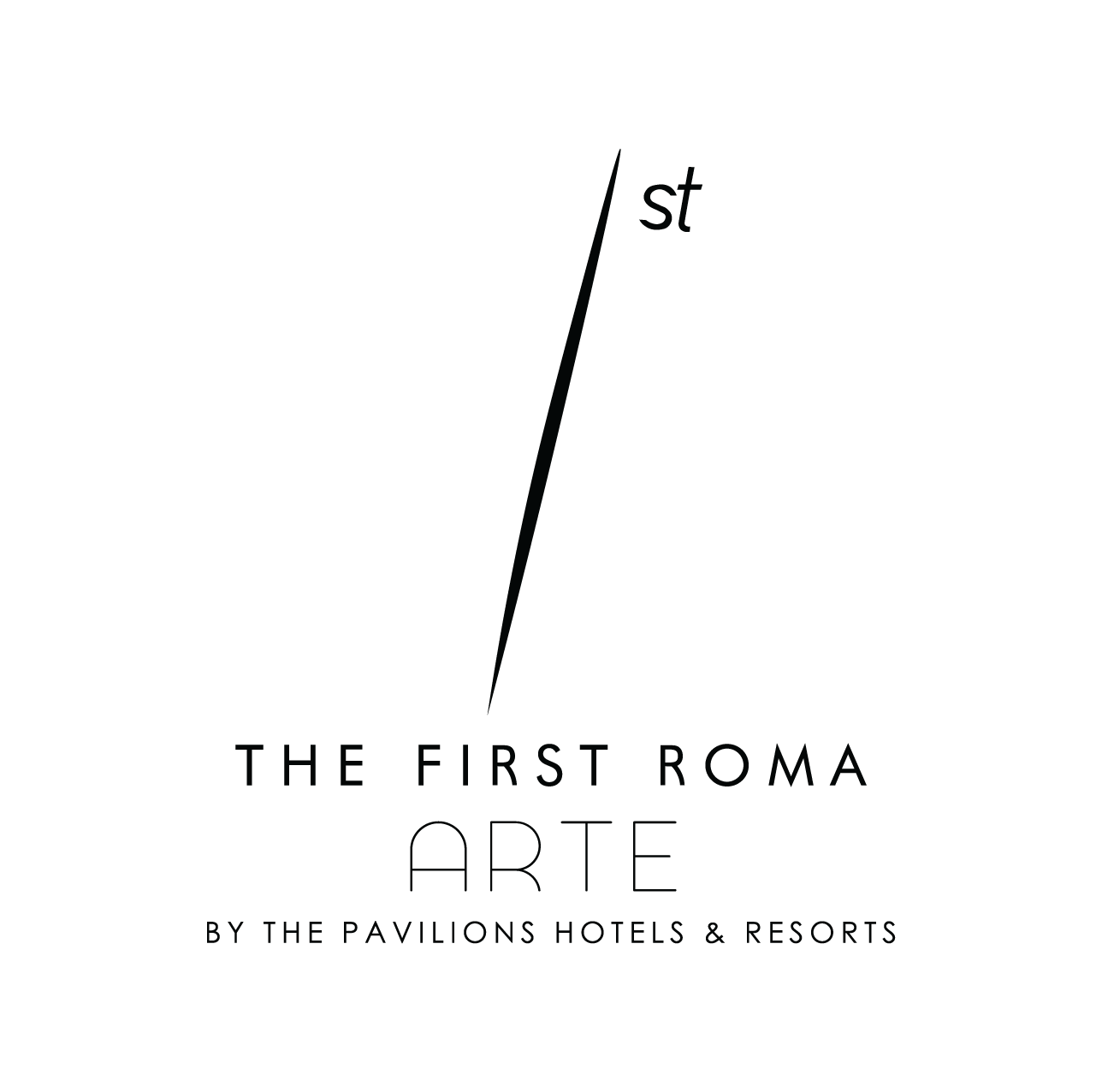 Logo The First Roma Arte_black