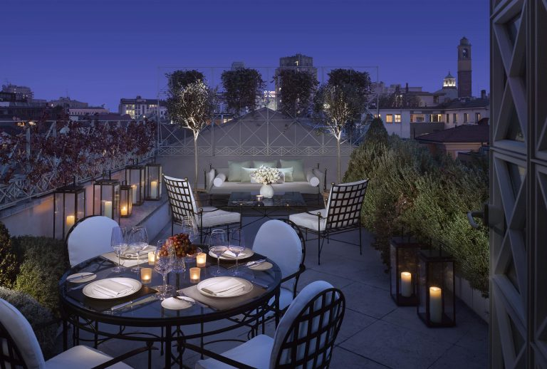 Penthouse Suite Terrace, Four Seasons Hotel Milano-min