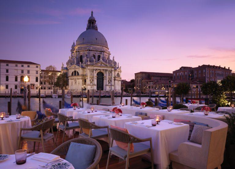 The St. Regis Venice -Gios Restaurant - Grand Canal Terrace at Dusk