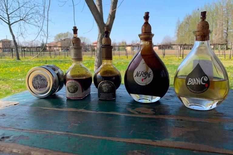 Villa San Donnino vinegar bottles