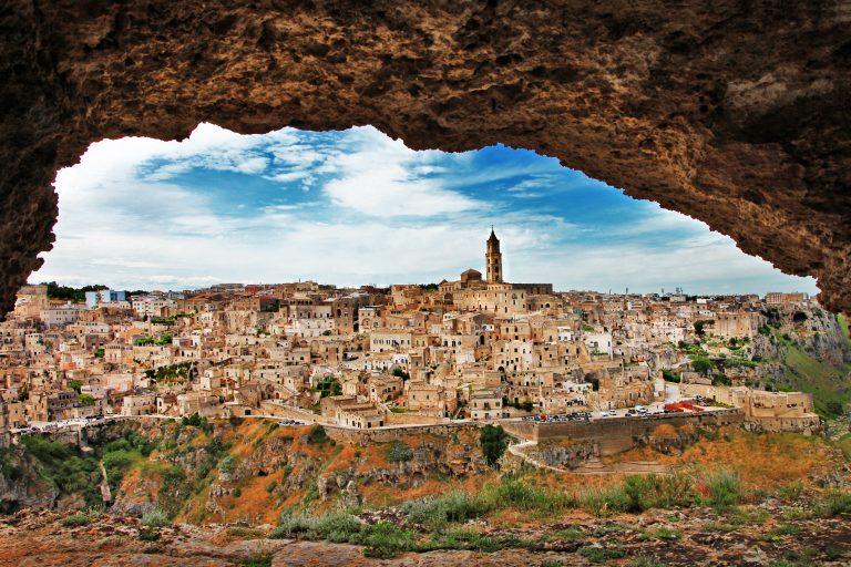 Matera - ancient cave city. Italy, Basilicata