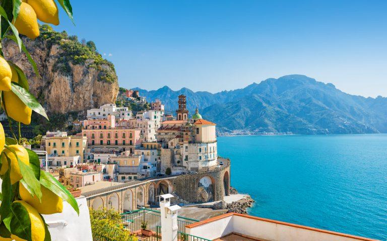 Small town of Atrani on the Amalfi coast in the province of Salerno