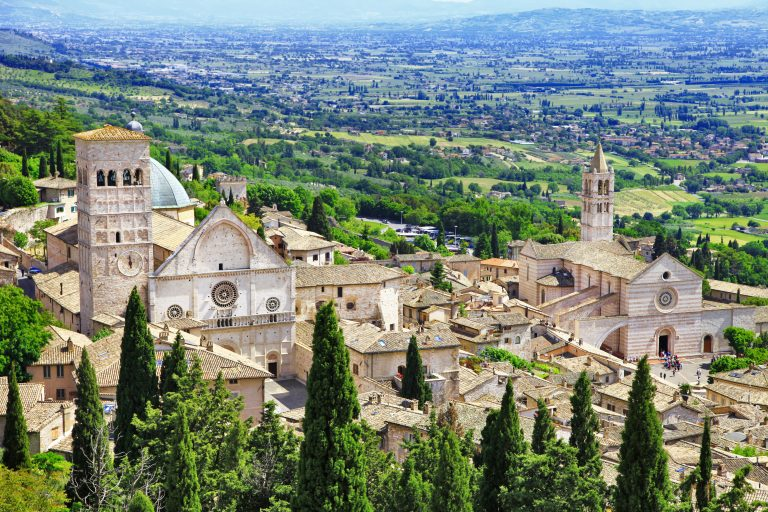 medieval town of Assisi, Umbria,