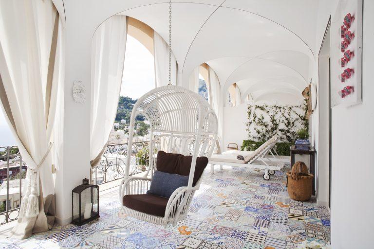 Capri Tiberio Palace Rooms - terrace