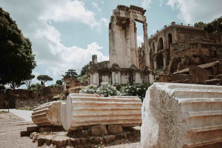 Italy with Class Ancient Rome Roman Forum Temple of Minerva