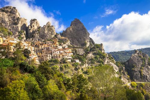 Castelmezzano,-mountain,Village.,Italy,,Basilicata