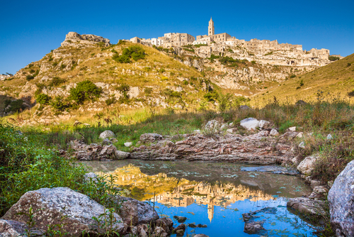 Panoramic,View,Of,The,Ancient,Town,Of,Matera,(sassi,Di