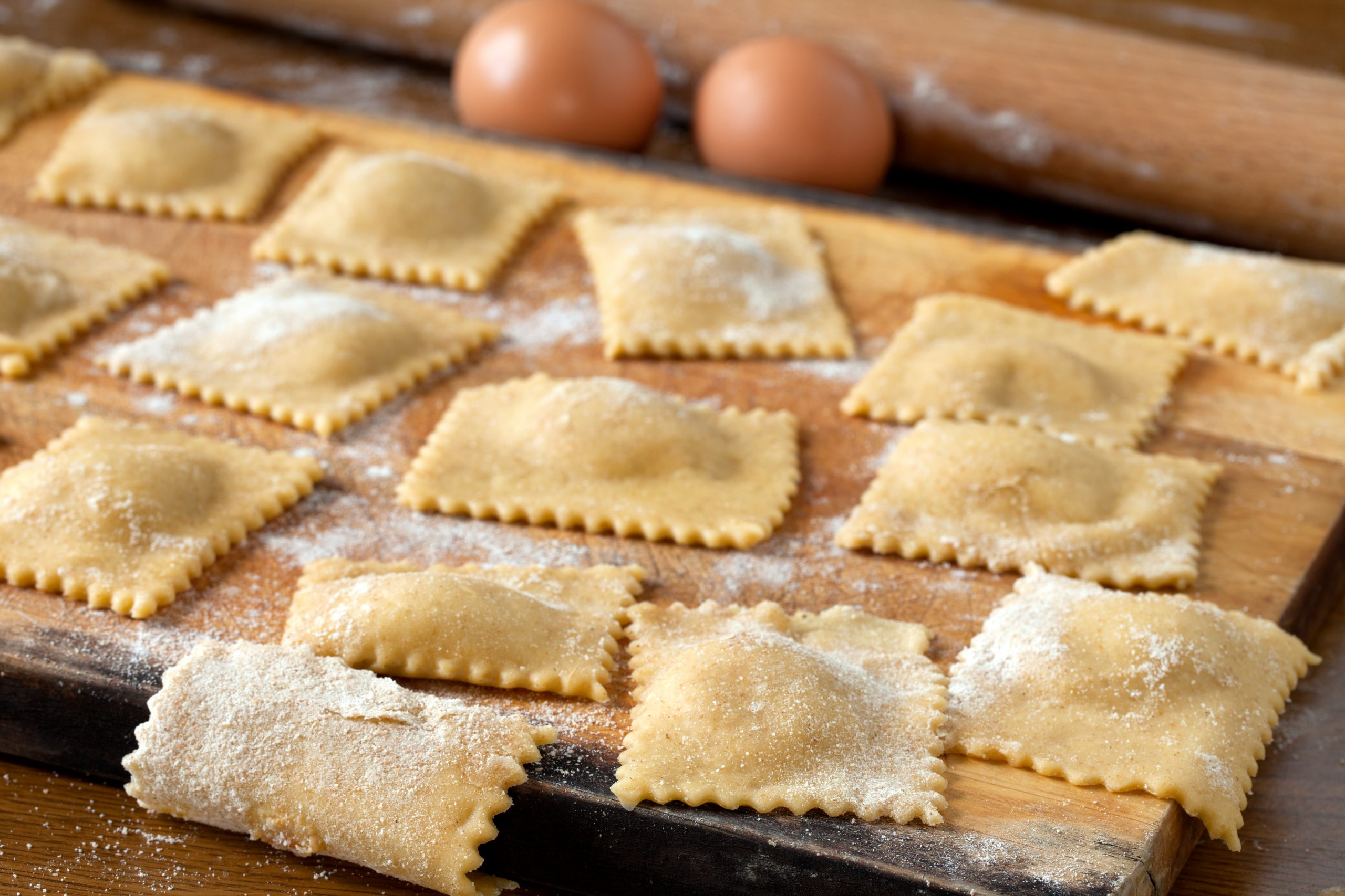 Homemade,Agnolotti,Pasta,Made,With,A,Recipe,From,Piedmont.