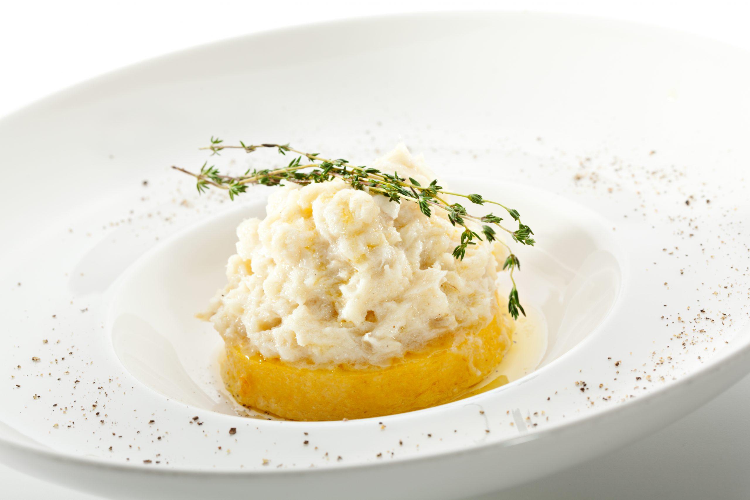 Polenta,With,Cream,Cod