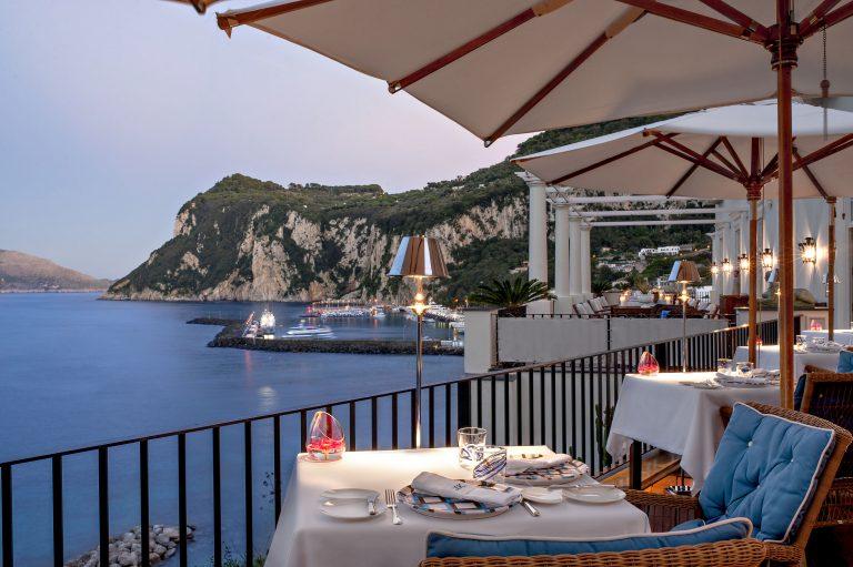 JK Place Capri 7-JKitchen Restaurant at J.K. Place Capri. Terrace with Sea View