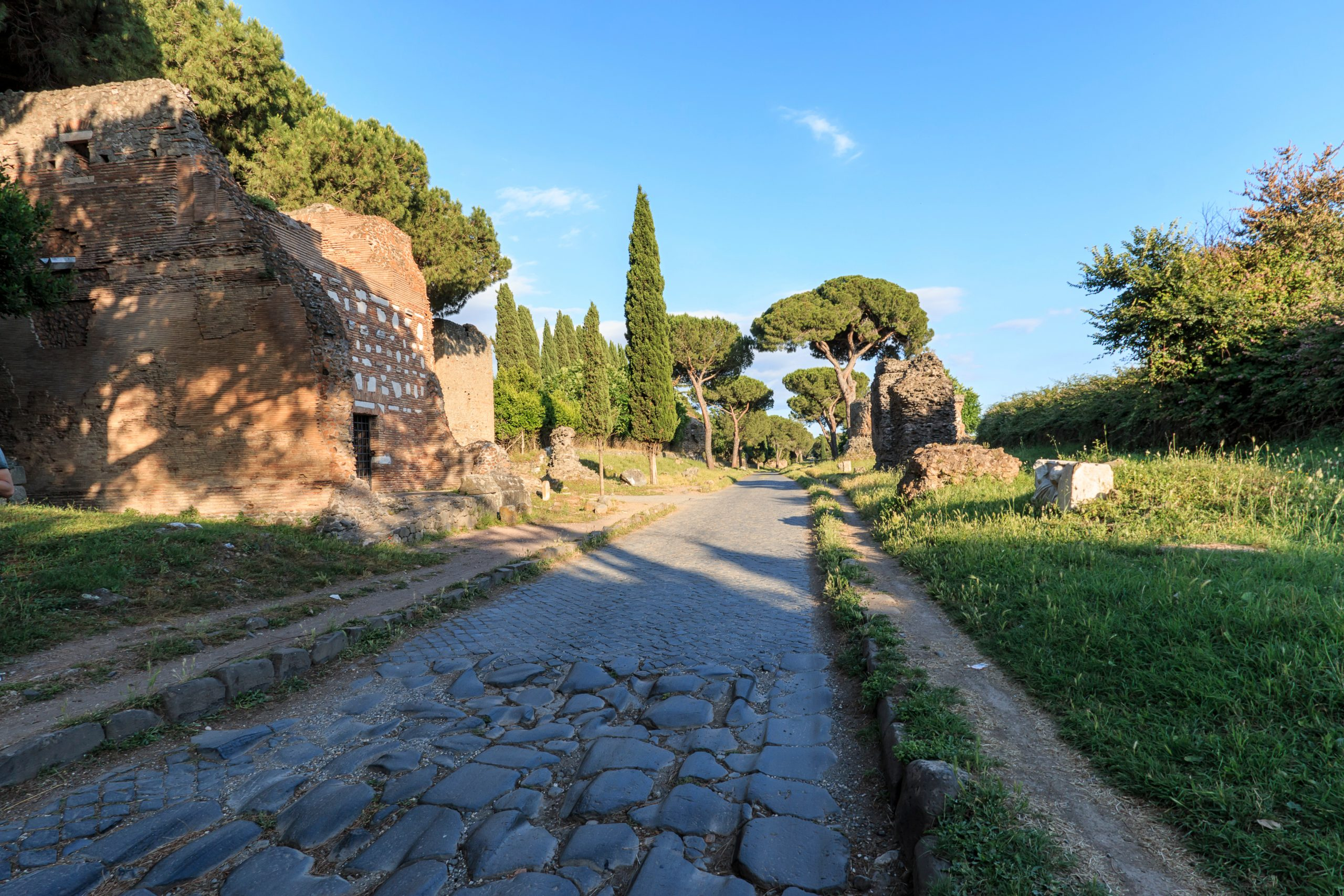 Ruins,Of,The,Ancient,Via,Appia,(appian,Way),In,Rome