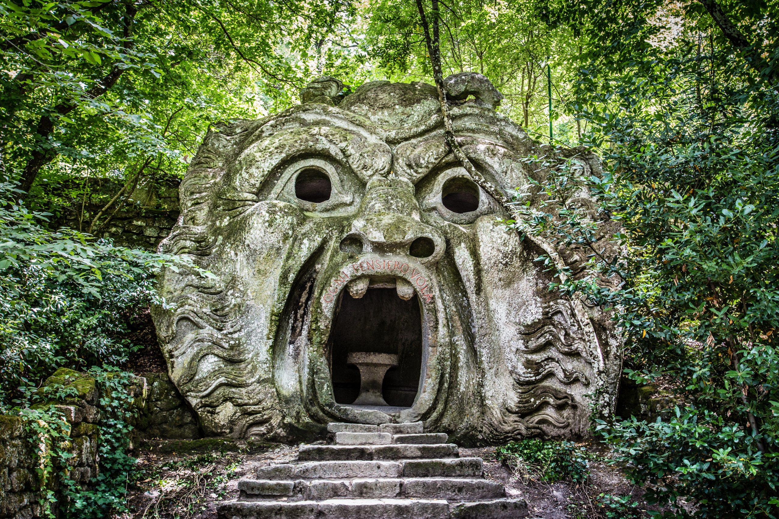 Orcus,Mouth,Sculpture,At,Famous,Parco,Dei,Mostri,(park,Of