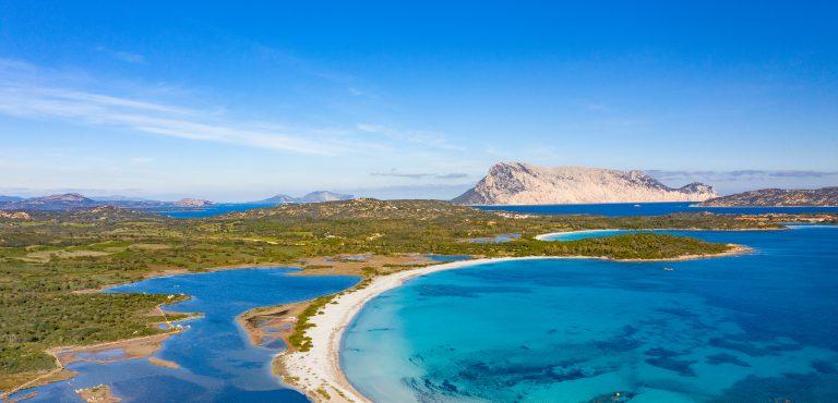 BEAUTIFUL AERIAL VIEW OF THE BEACH OF LU IMPOSTU