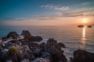 Il Carrubo area by the sea at sunset 2