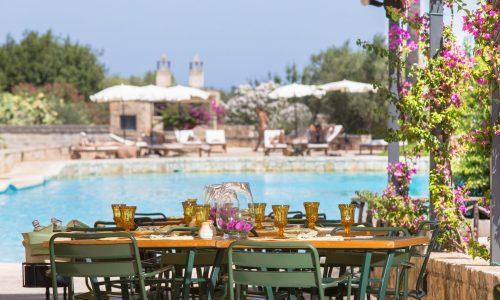 MasseriaSanDomenico ristorante by the pool